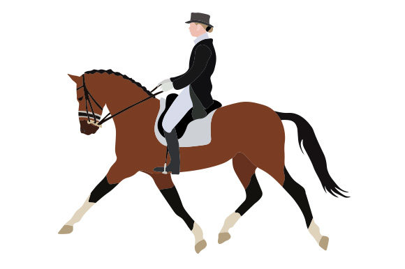 Horse Dressage Horse & Equestrian Craft Cut File By Creative Fabrica Crafts
