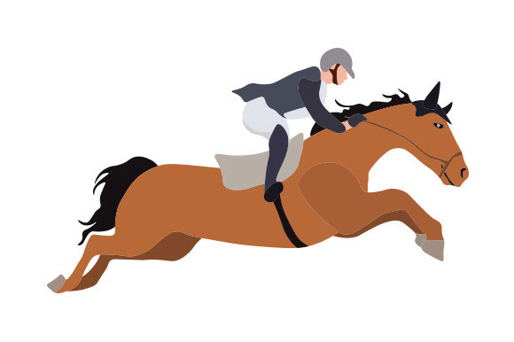 Download Free Horse Show Jumping Illustration Svg Cut File By Creative Fabrica for Cricut Explore, Silhouette and other cutting machines.