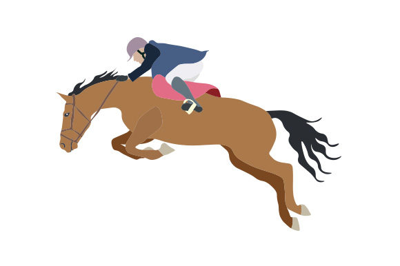Horse Show Jumping Illustration Horse & Equestrian Craft Cut File By Creative Fabrica Crafts