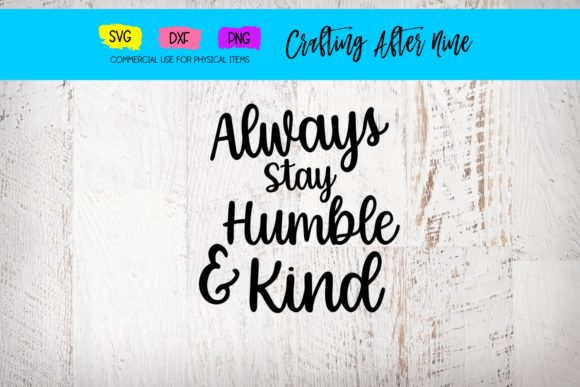 Print on Demand: Humble and Kind Graphic Crafts By Crafting After Nine