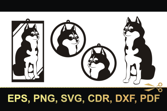 Download Free Husky 3 Cutting Files And Earrings Graphic By Olga Belova for Cricut Explore, Silhouette and other cutting machines.