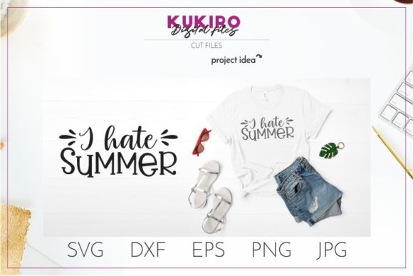 Download Free I Hate Summer Summer Svg Graphic By Kukiro Creative Fabrica SVG Cut Files