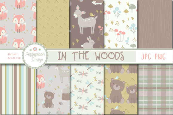 Print on Demand: In the Woods Paper Graphic Patterns By poppymoondesign