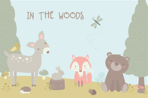 Print on Demand: In the Woods Graphic Illustrations By poppymoondesign