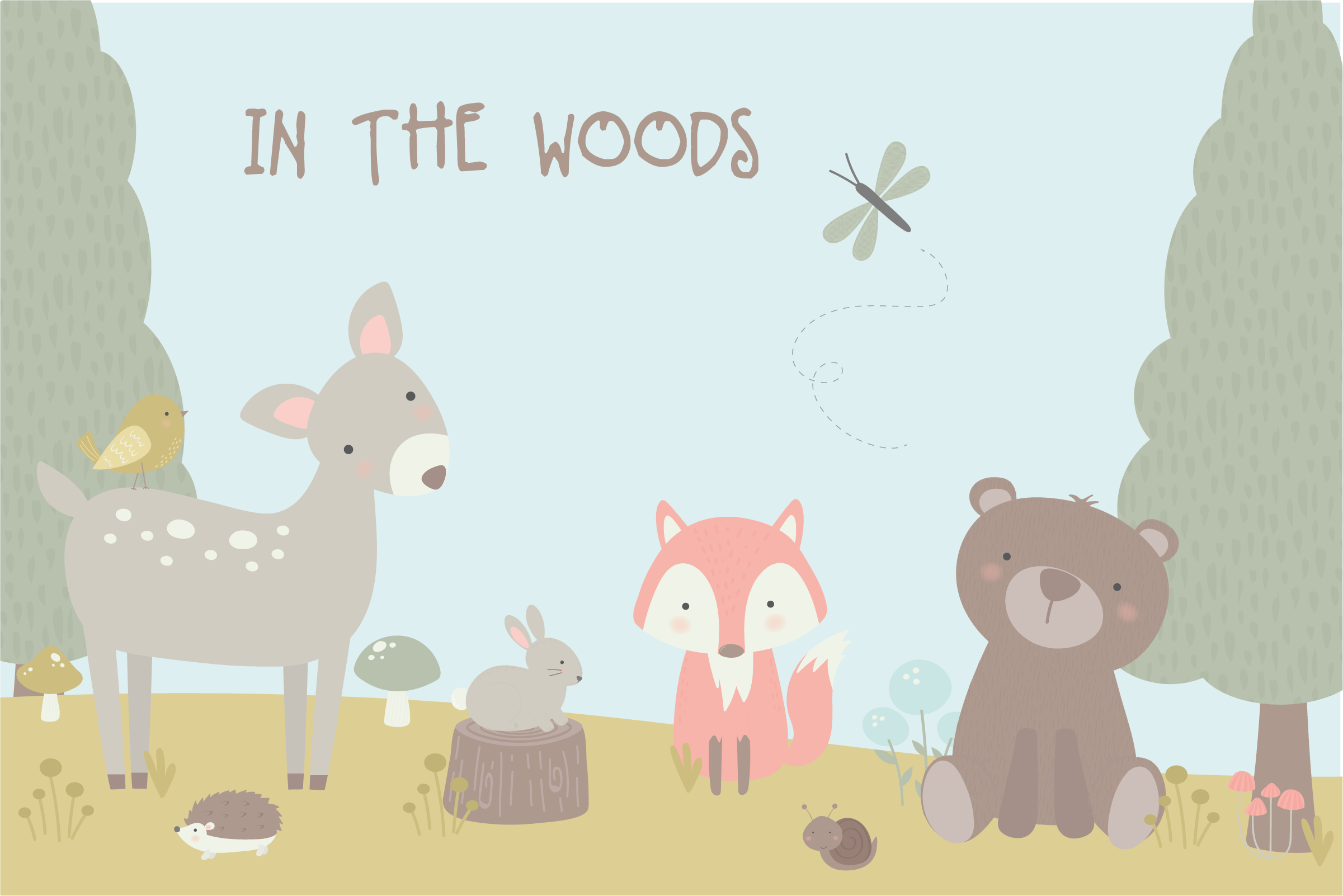 Download Free In The Woods Graphic By Poppymoondesign Creative Fabrica for Cricut Explore, Silhouette and other cutting machines.