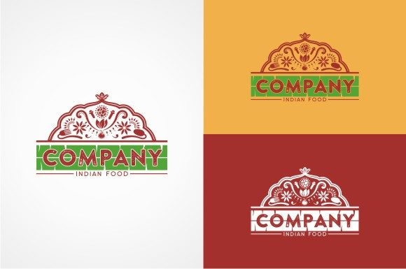 Download Free Indian Food Logo Template Graphic By Ts D Sign Creative Fabrica for Cricut Explore, Silhouette and other cutting machines.