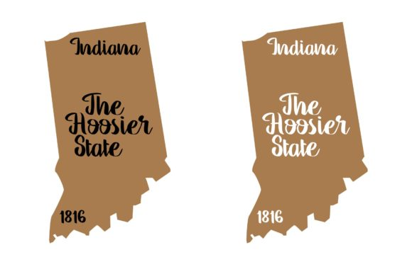 Download Free Indiana State Nickname Svg Png Eps Grafico Por Studio 26 for Cricut Explore, Silhouette and other cutting machines.