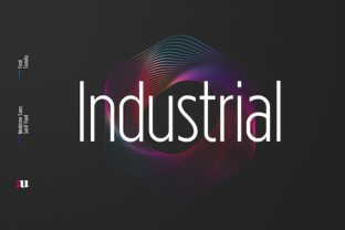 Industrial Font By unio.creativesolutions