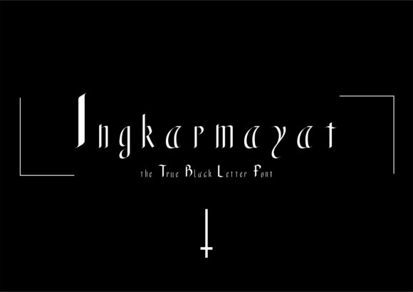 Print on Demand: Ingkarmayat Blackletter Font By little scar