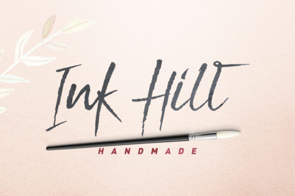 Print on Demand: Ink Hill Script & Handwritten Font By Stripes Studio