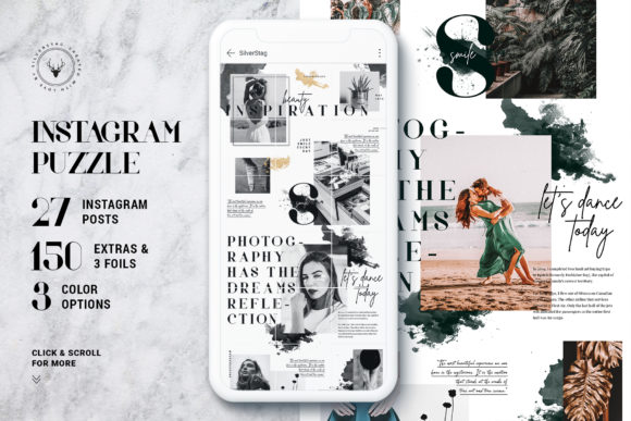 Print on Demand: #InstaGrid 8 - Instagram Magazine Puzzle Graphic Websites By SilverStag