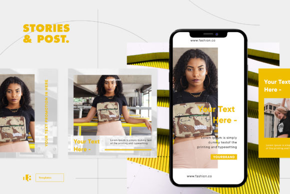 Print on Demand: Instagram Template Graphic Graphic Templates By ovoz.graphics - Image 4