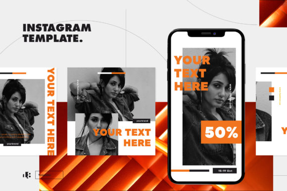 Print on Demand: Instagram Template Graphic Graphic Templates By ovoz.graphics - Image 1