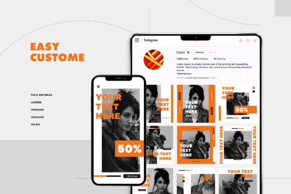 Print on Demand: Instagram Template Graphic Graphic Templates By ovoz.graphics - Image 2