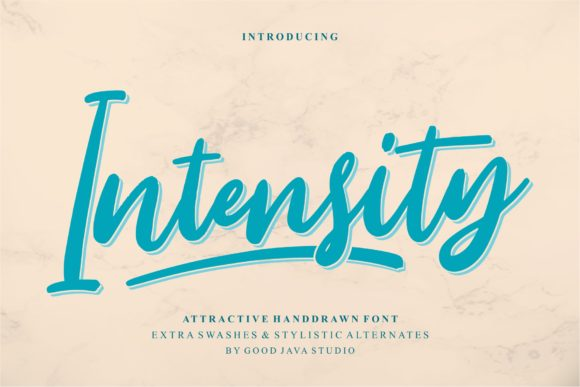 Print on Demand: Intensity Script & Handwritten Font By goodjavastudio