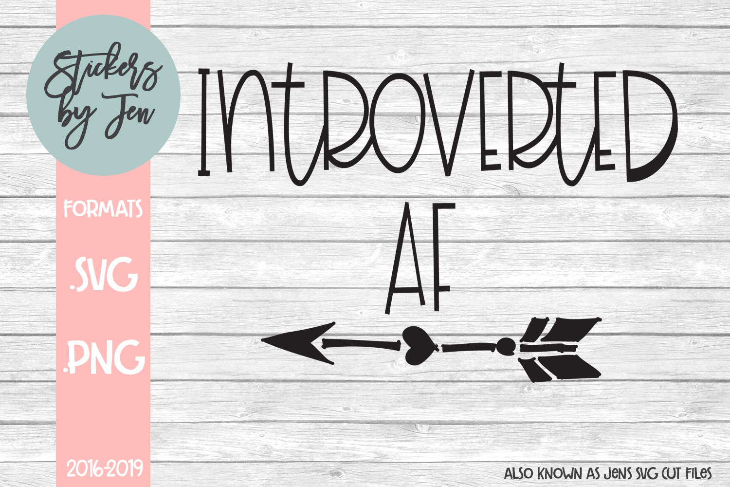 Download Free Introverted Af Graphic By Stickers By Jennifer Creative Fabrica for Cricut Explore, Silhouette and other cutting machines.
