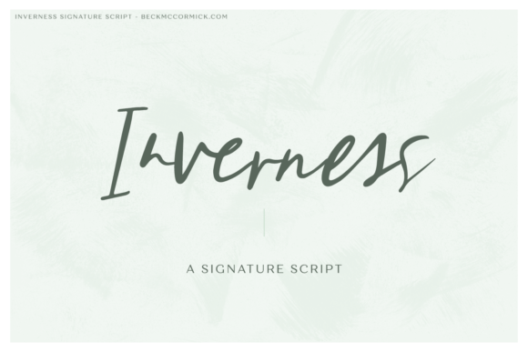 Print on Demand: Inverness Script & Handwritten Font By BeckMcCormick