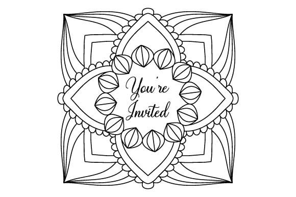 Download Free Invitation Coloring Page Graphic By Graphicsfarm Creative Fabrica SVG Cut Files