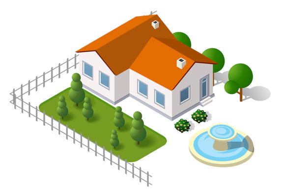 Download Free Isometric 3d Rural Landscape Graphic By Alexzel Creative Fabrica for Cricut Explore, Silhouette and other cutting machines.