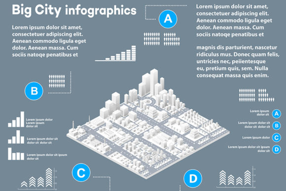 Print on Demand: Isometric Three-dimensional Infographics Graphic Infographics By AlexZel