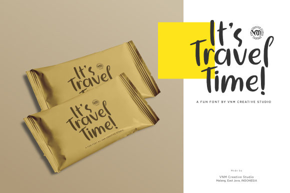 Print on Demand: It's Travel Time Display Font By VNM Creative Studio - Image 8