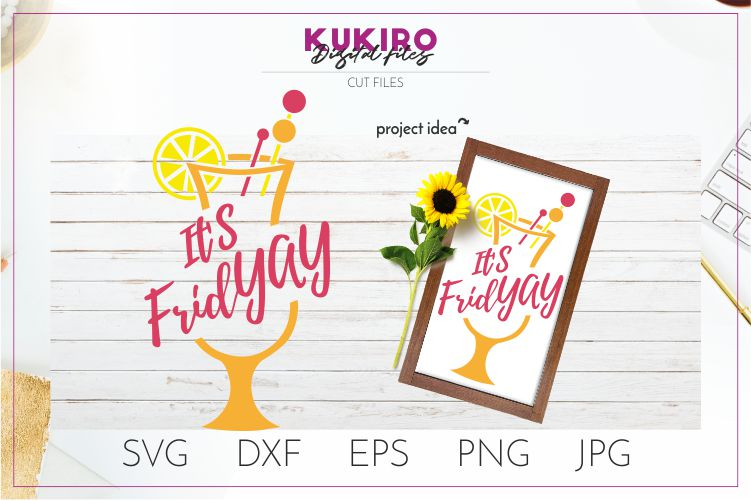 Download Free It S Friday Party Sign Cut File Graphic By Kukiro Creative for Cricut Explore, Silhouette and other cutting machines.