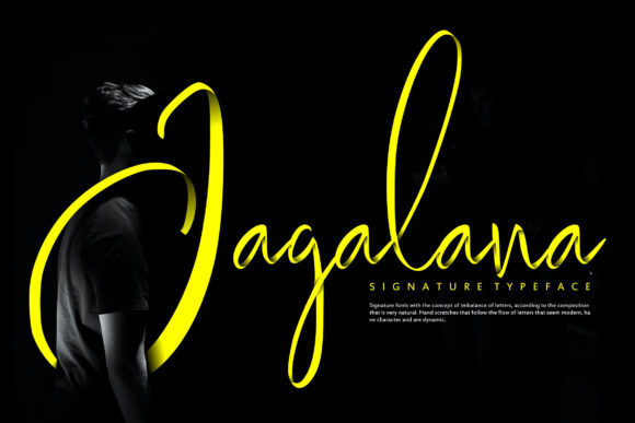Print on Demand: Jagalana Script & Handwritten Font By Vunira