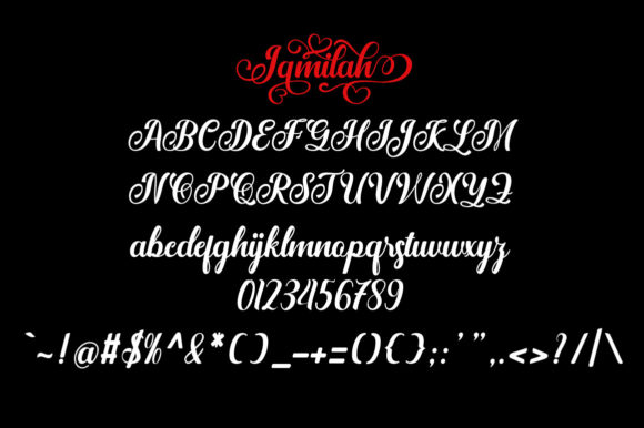 Download Free Jamilah Script Font By Arwah Studio Creative Fabrica for Cricut Explore, Silhouette and other cutting machines.