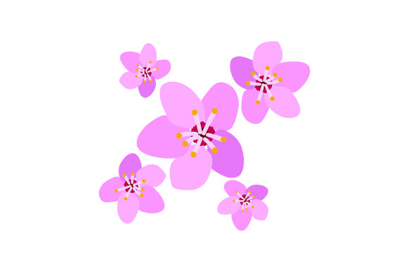 Download Free Japanese Flower Svg Cut File By Creative Fabrica Crafts for Cricut Explore, Silhouette and other cutting machines.
