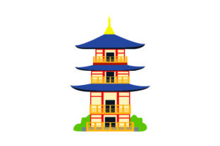 Japanese Pagoda Craft Design By Creative Fabrica Crafts