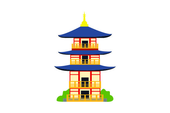 Download Free Japanese Pagoda Svg Cut File By Creative Fabrica Crafts for Cricut Explore, Silhouette and other cutting machines.