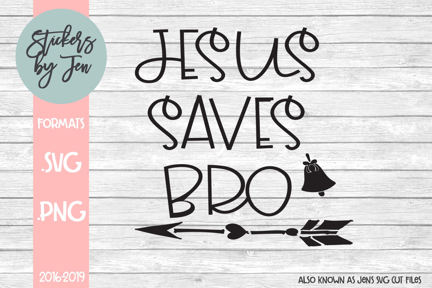 Download Free Jesus Saves Bro Svg Graphic By Stickers By Jennifer Creative for Cricut Explore, Silhouette and other cutting machines.