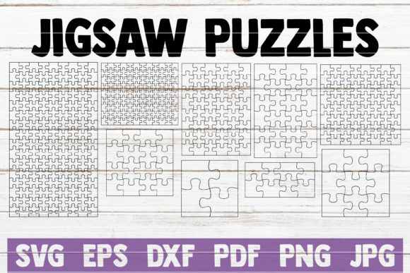 Download Free Jigsaw Puzzles Bundle Cut Files Graphic By Mintymarshmallows for Cricut Explore, Silhouette and other cutting machines.