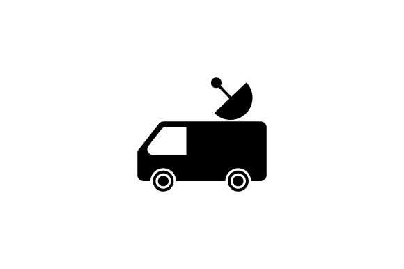 Download Free Journalist Reporter Car Black Icon Graphic By Hoeda80 for Cricut Explore, Silhouette and other cutting machines.