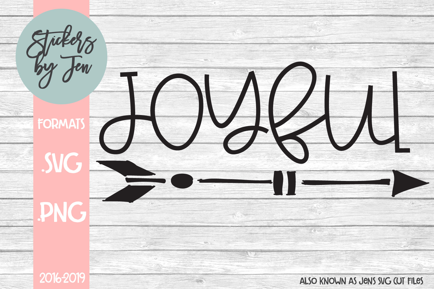 Download Free Joyful Graphic By Stickers By Jennifer Creative Fabrica for Cricut Explore, Silhouette and other cutting machines.