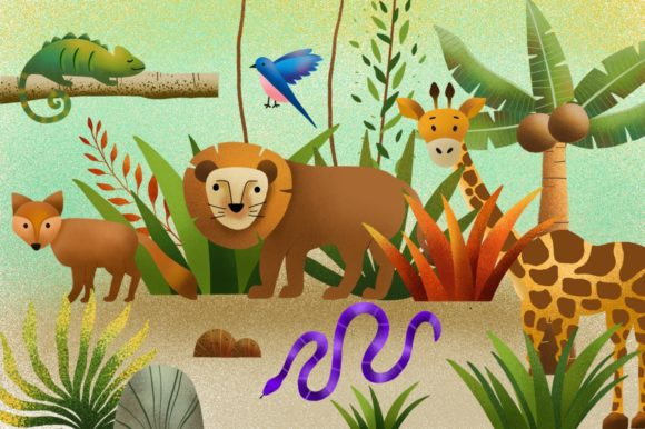 Download Free Jungle Land Illustration Graphic By Caoca Studios Creative Fabrica for Cricut Explore, Silhouette and other cutting machines.