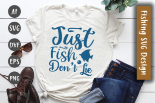 Just Fish – Don't Lie  SVG Design Graphic By DesignBooth