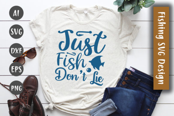 Print on Demand: Just Fish – Don't Lie  SVG Design Graphic Crafts By CreativeArt