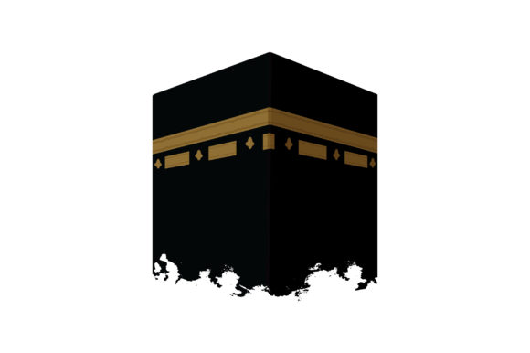 Kaaba in Mecca Landmark Building Vector Graphic Illustrations By emnazar2009