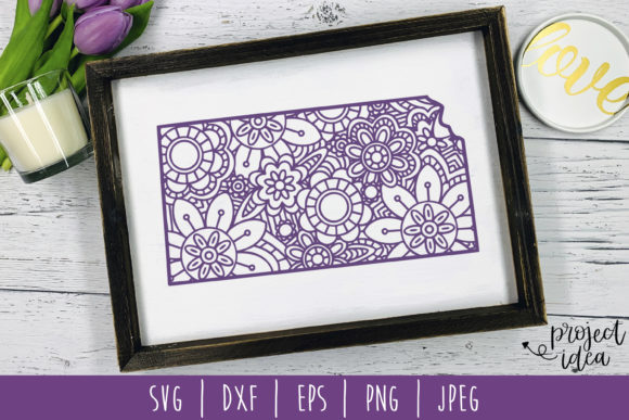 Download Free Kansas State Mandala Zentangle Graphic By Savoringsurprises for Cricut Explore, Silhouette and other cutting machines.