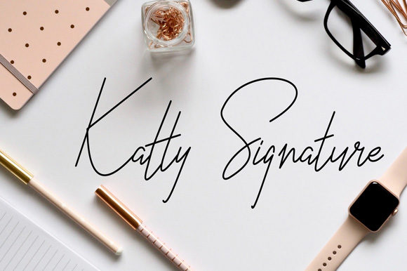 Print on Demand: Katty Script & Handwritten Font By rohmatsidiq9
