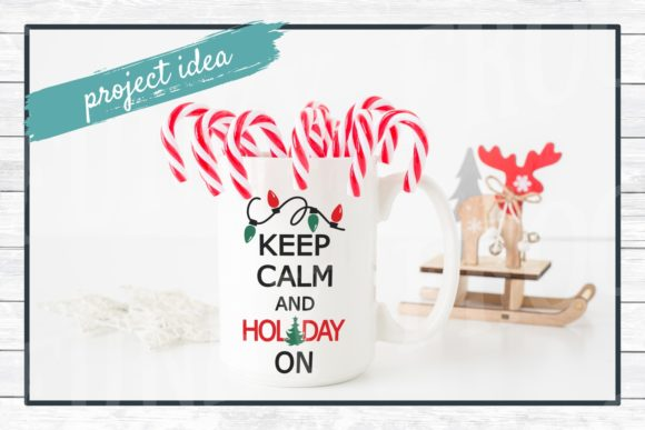 Download Free Keep Calm Christmas Graphic By Funkyfrogcreativedesigns for Cricut Explore, Silhouette and other cutting machines.