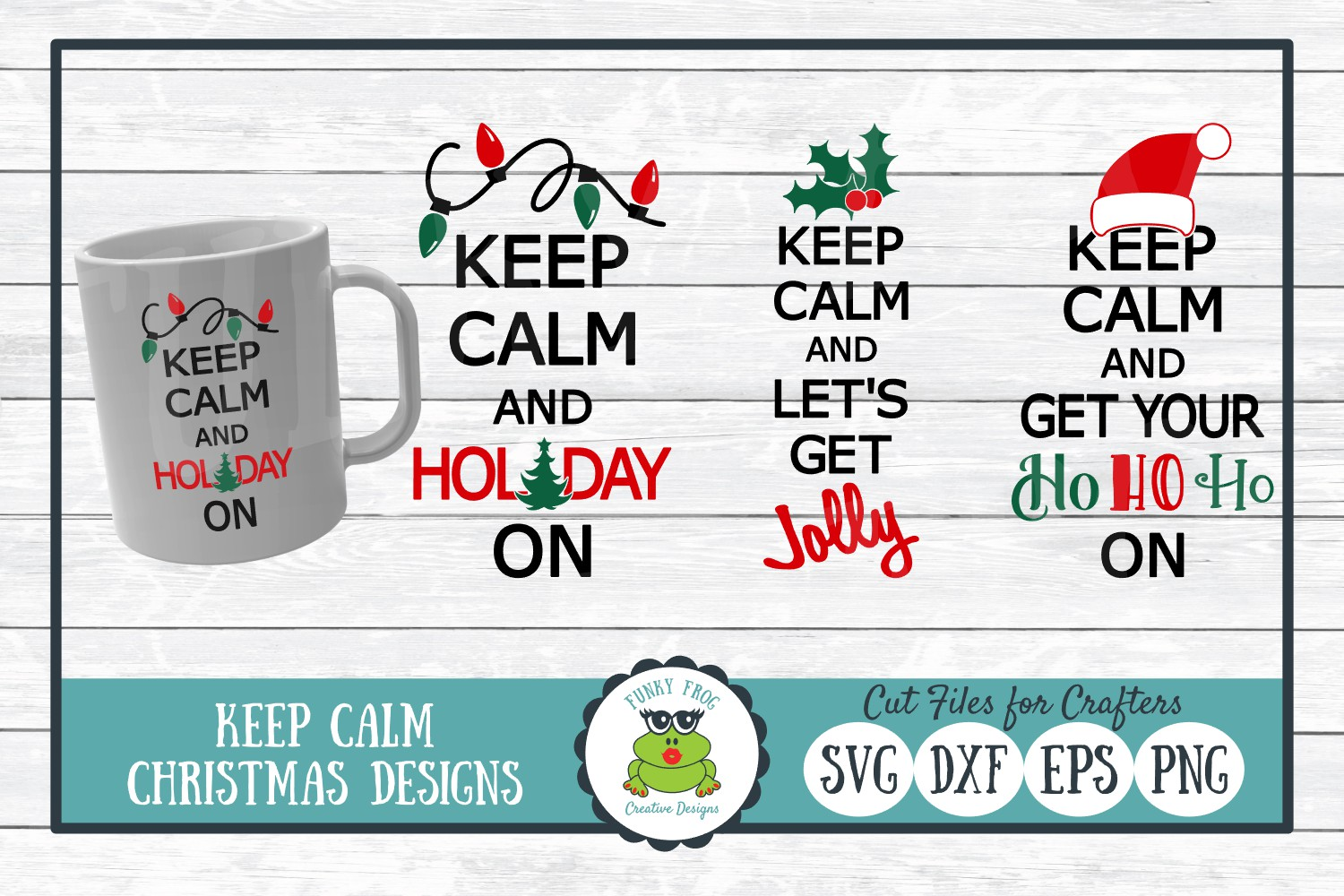 Keep Calm Christmas Graphic By Funkyfrogcreativedesigns