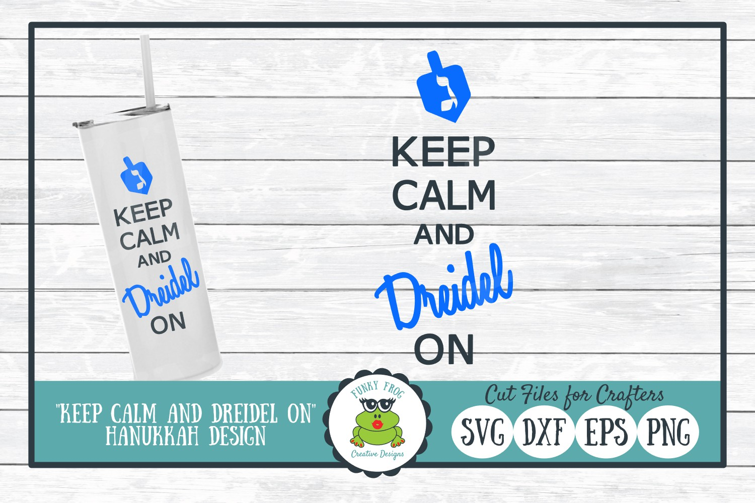 Download Free Keep Calm And Dreidel On Hanukkah Graphic By for Cricut Explore, Silhouette and other cutting machines.