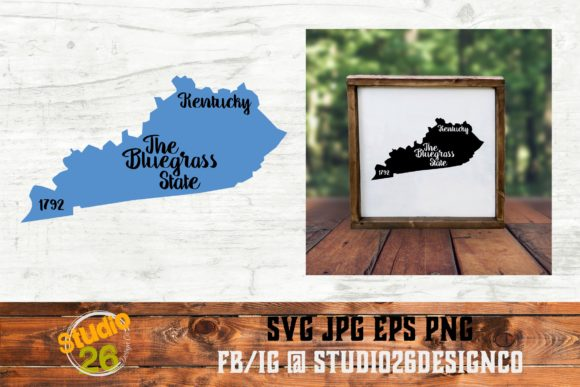 Download Free Kentucky State Nickname Graphic By Studio 26 Design Co for Cricut Explore, Silhouette and other cutting machines.
