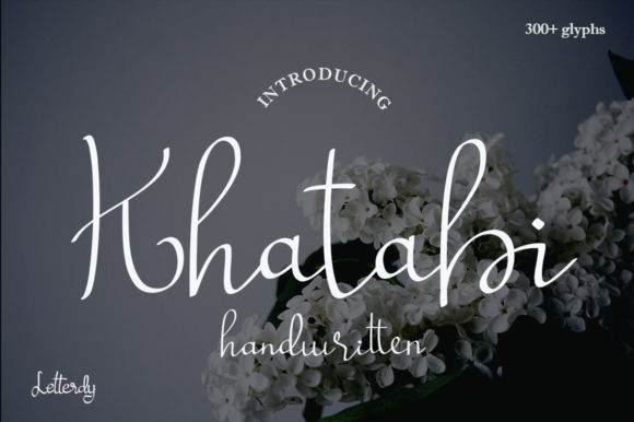 Print on Demand: Khatabi Script & Handwritten Font By die.miftah21