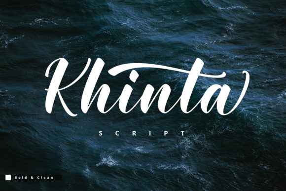 Print on Demand: Khinta Script Script & Handwritten Font By FadeLine