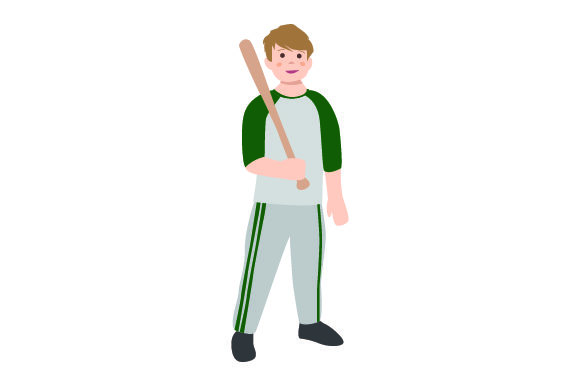 Download Free Kid Holding Baseball Bat Svg Cut File By Creative Fabrica Crafts for Cricut Explore, Silhouette and other cutting machines.