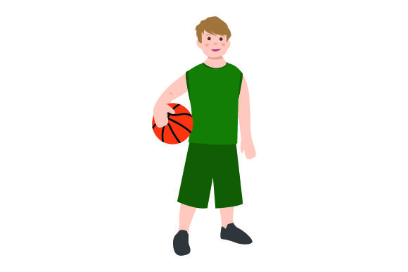 Download Free Kid Holding Basketball Svg Cut File By Creative Fabrica Crafts for Cricut Explore, Silhouette and other cutting machines.