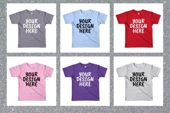 Print on Demand: Kids T-shirt Mock Up Graphic Product Mockups By Mockup Venue